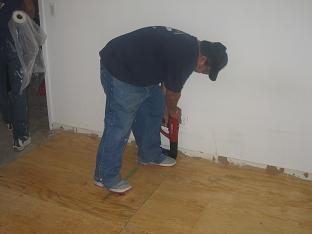 Manhattan floor installation