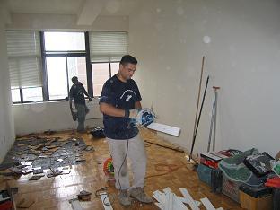 Mahogany Floor installation New York